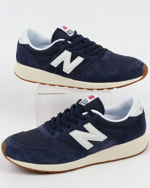 NEW BALANCE 420 Re-engineered Suede Trainers Navy/white