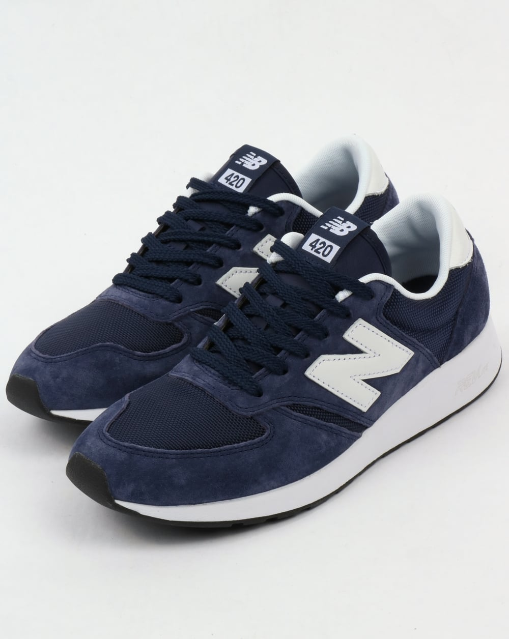 new balance 420 re engineered trainers navy shoes running 70s. Black Bedroom Furniture Sets. Home Design Ideas
