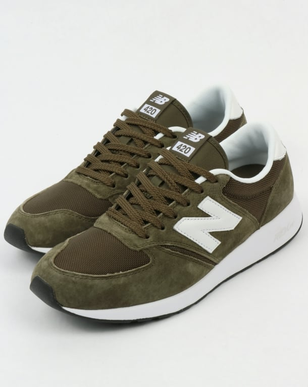 revendeur 26d28 cb671 New Balance 420 Re-Engineered Trainers Olive Green
