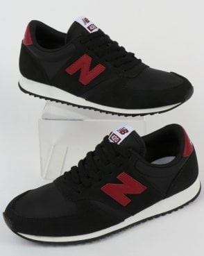New Balance 420 Trainers Black/Burgundy