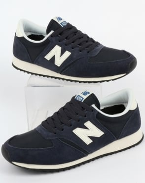 new balance 420 navy vintage trainers