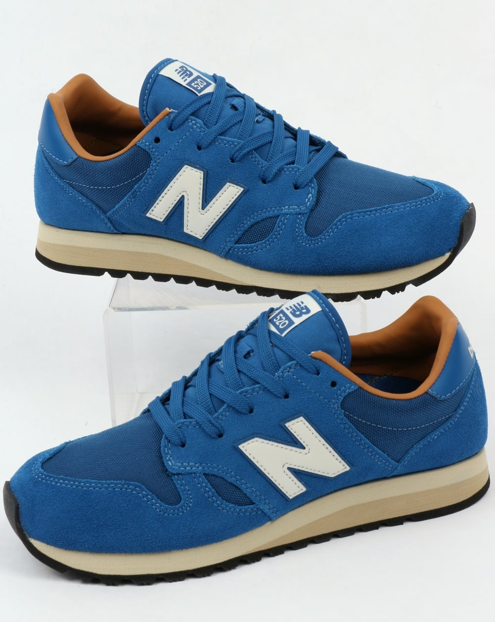 new balance 520 trainers classic blue brown sugar shoes running runners. Black Bedroom Furniture Sets. Home Design Ideas