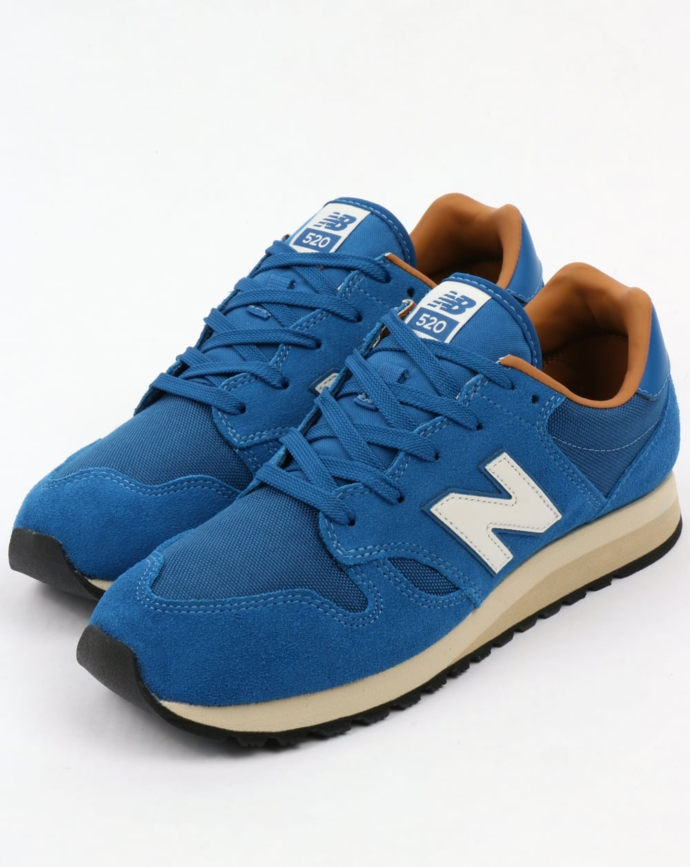 new balance 520 trainers classic blue brown sugar shoes. Black Bedroom Furniture Sets. Home Design Ideas