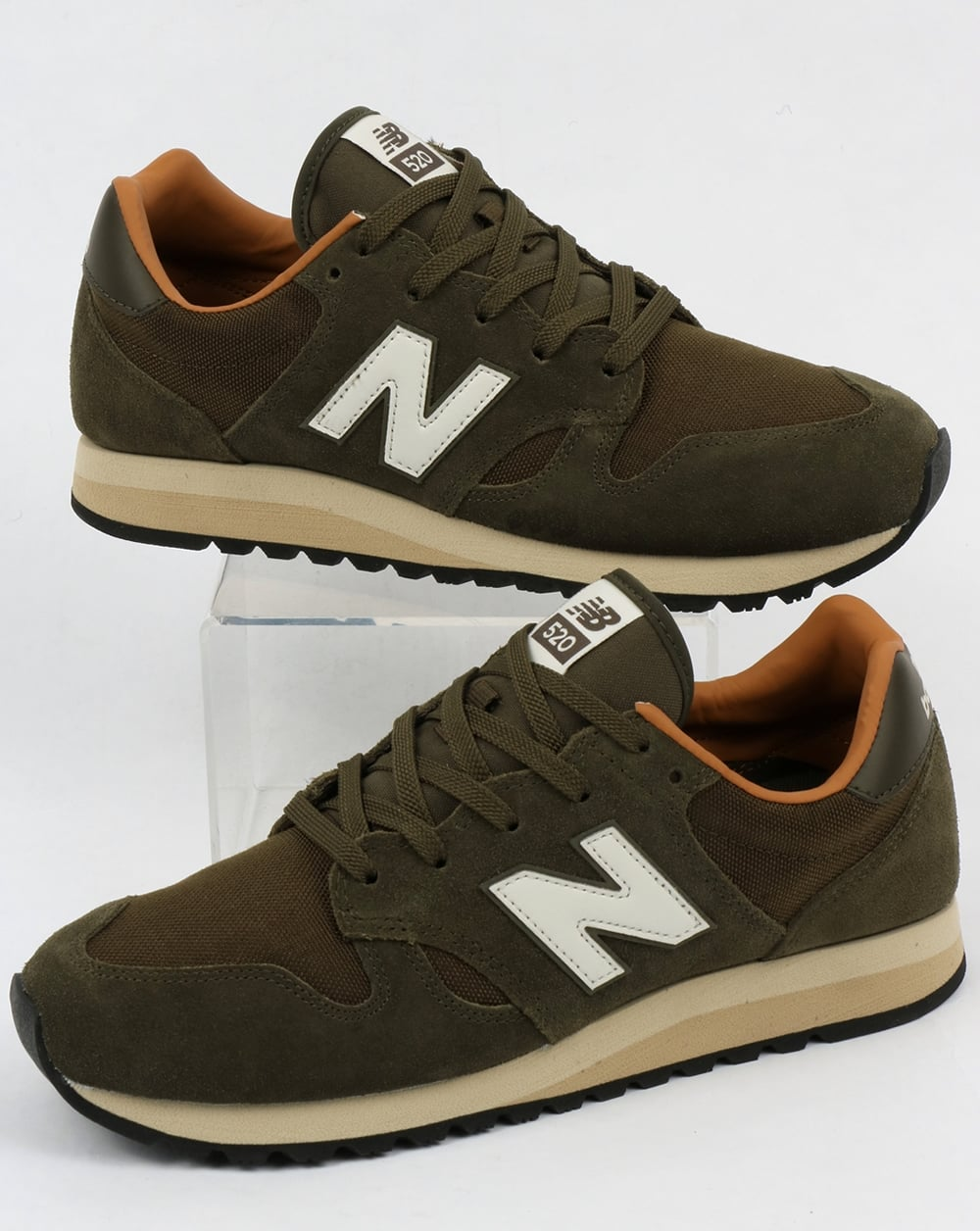 new balance 520 trainers military dark brown sugar shoes. Black Bedroom Furniture Sets. Home Design Ideas