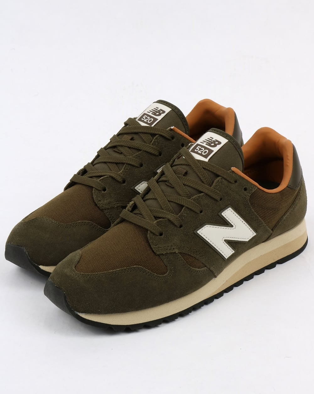 new balance 520 trainers military dark brown sugar shoes running 70s. Black Bedroom Furniture Sets. Home Design Ideas