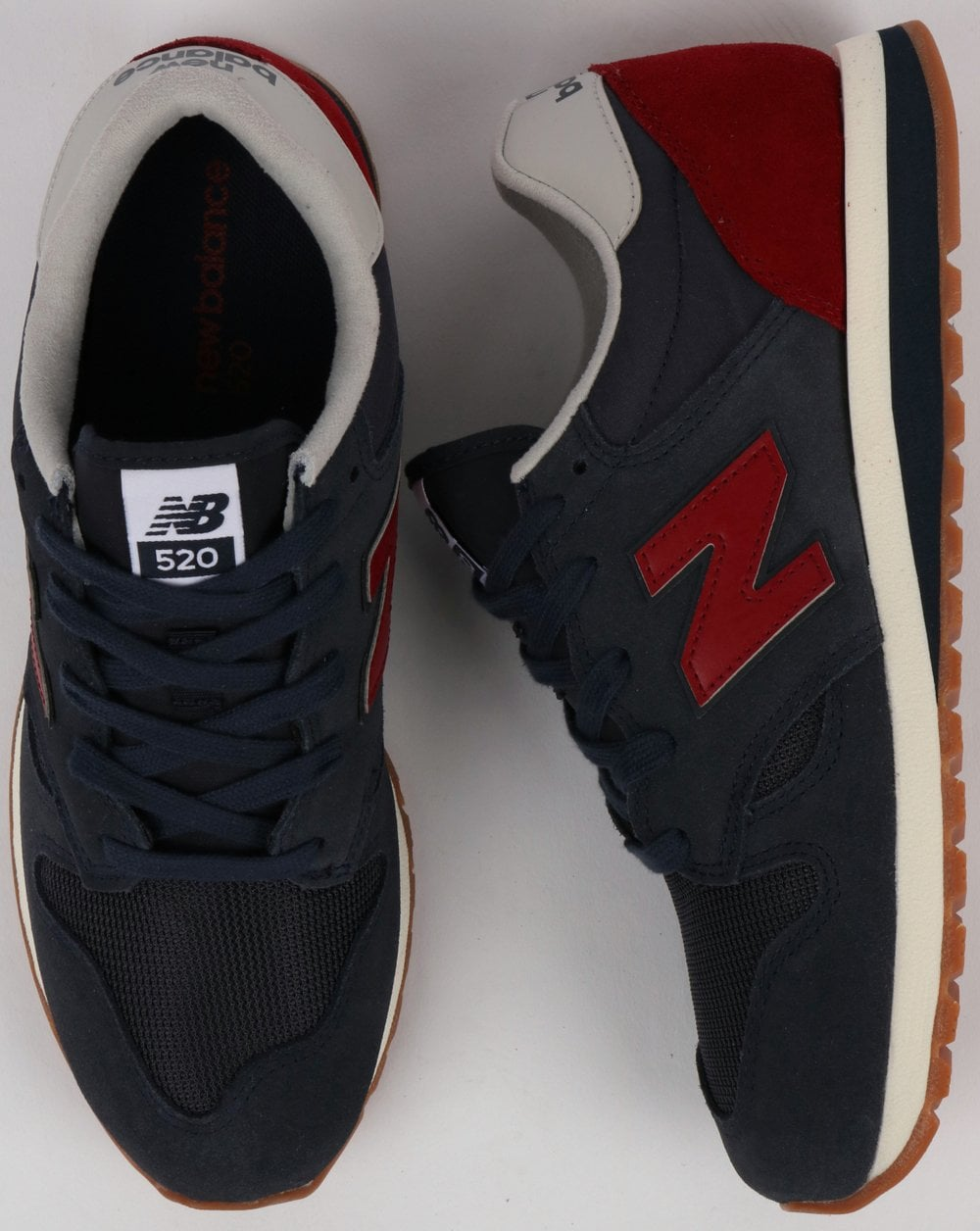 48427b476683b New Balance 520 Trainers Outerspace/Scarlet | 80s casual classics