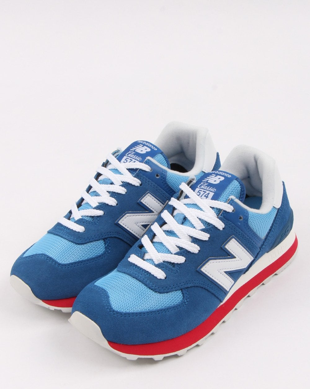super popular cedac 6d97d New Balance 574 Trainers Blue/white