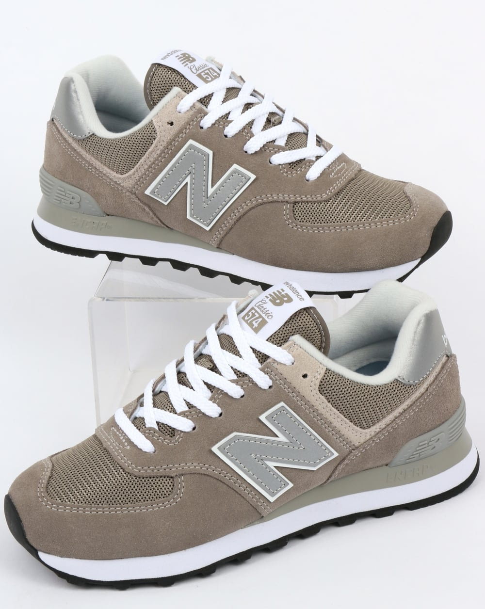 new products 00ae0 75736 New Balance 574 Trainers Grey/Grey