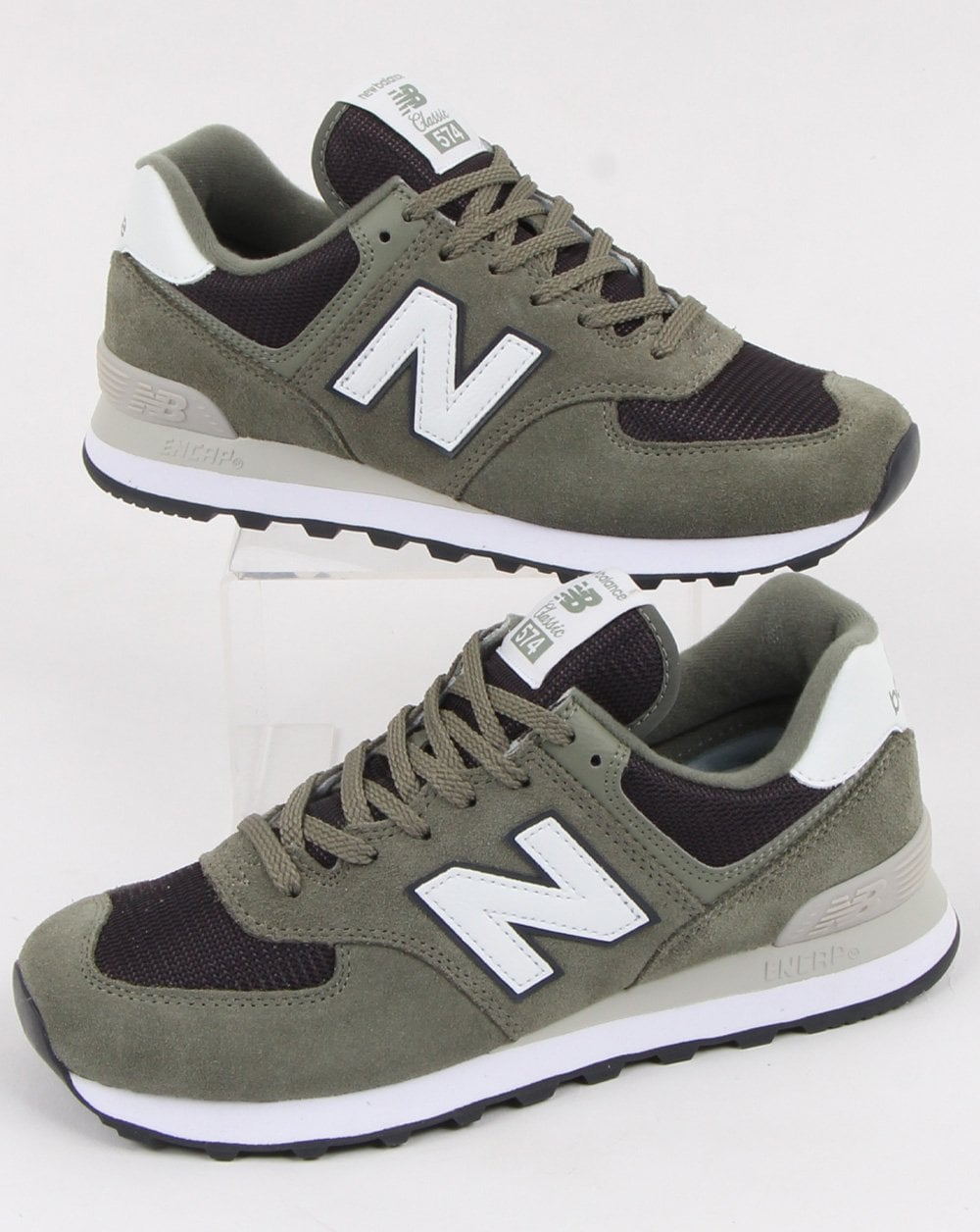 best service a7410 1a46a New Balance 574 Trainers Khaki Green