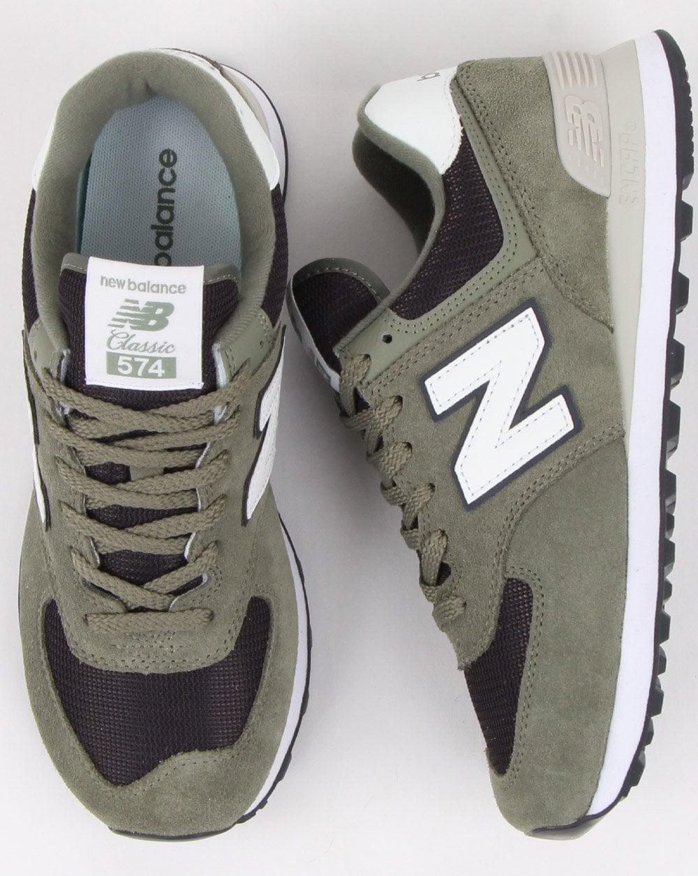 best service fc360 25633 New Balance 574 Trainers Khaki Green