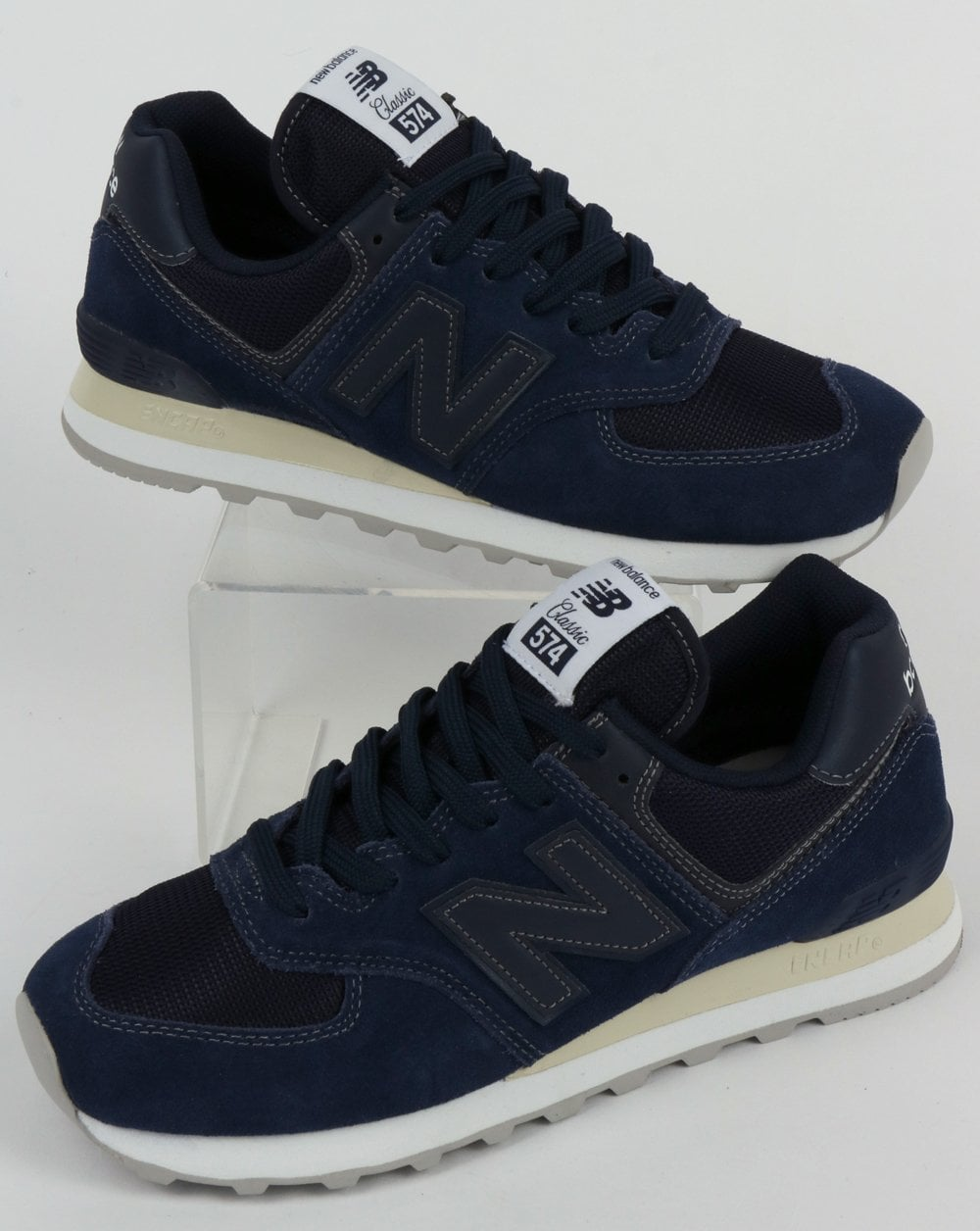 timeless design e6c00 7fcc1 New Balance 574 Trainers Navy Blue