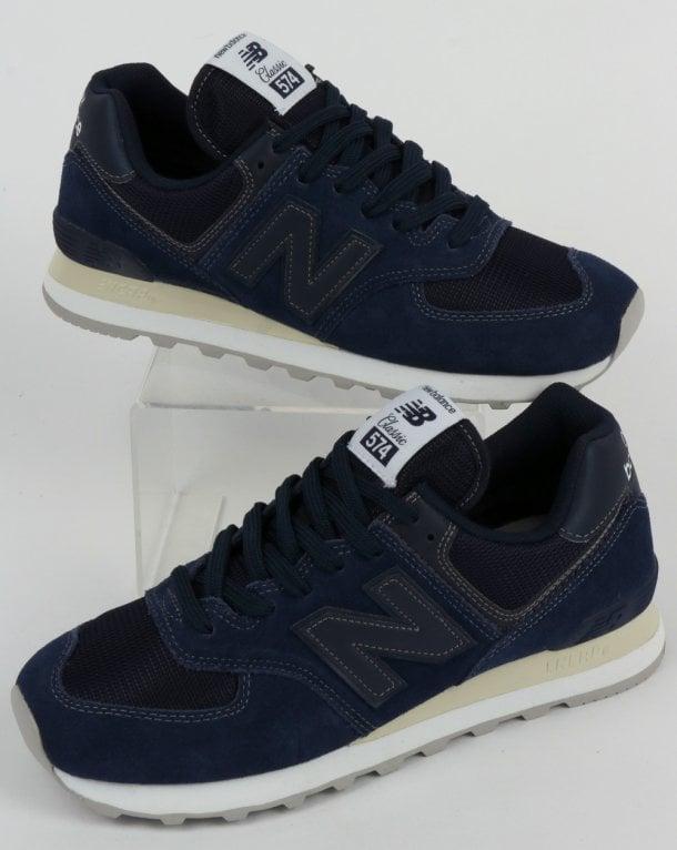 navy blue suede new balance 574
