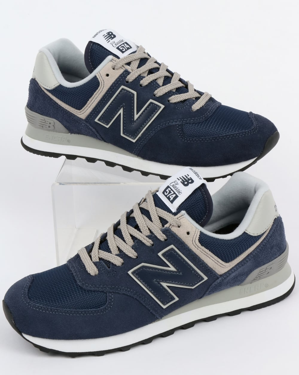 New Balance New Balance 574 Trainers Navy Grey 022288283a12