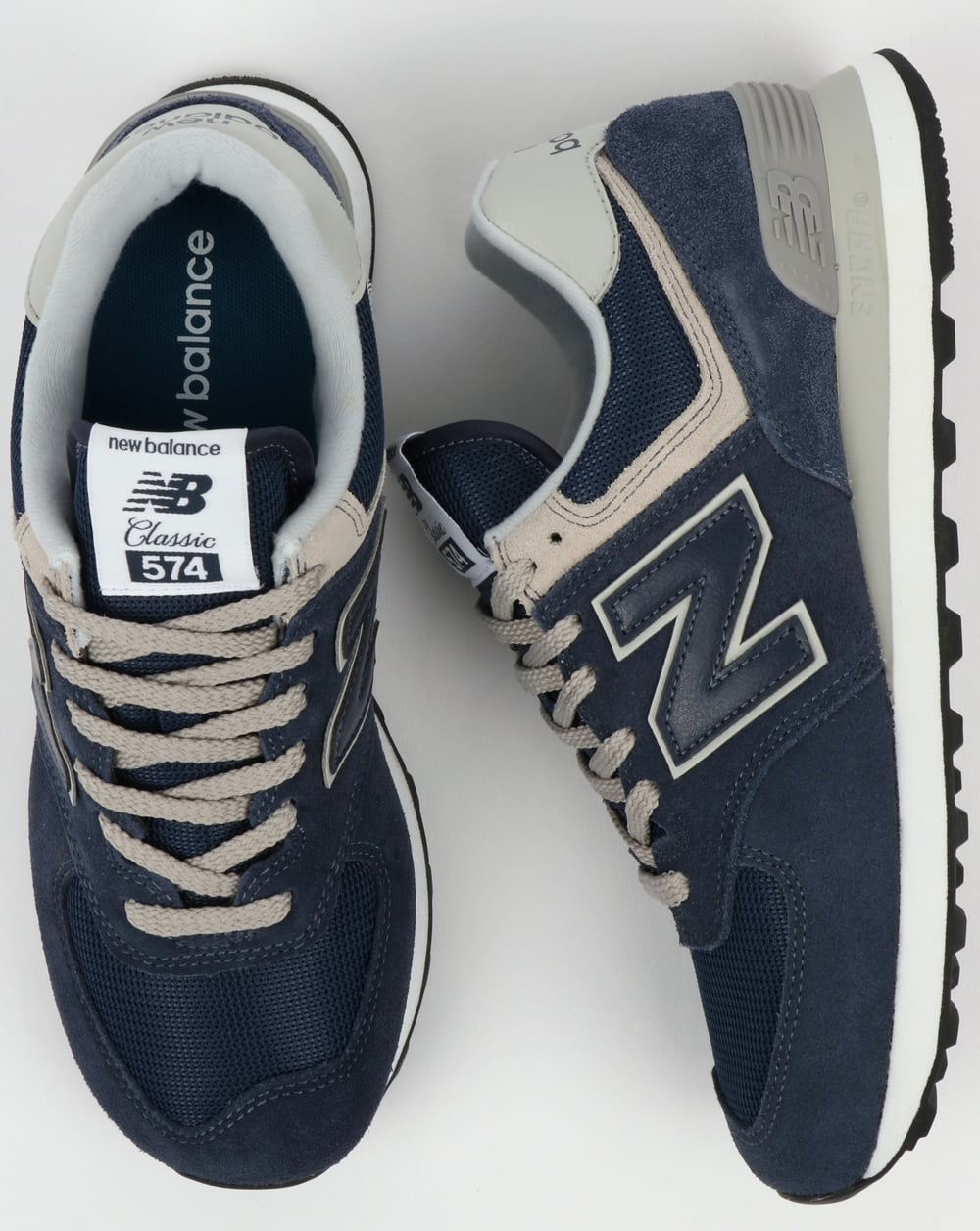 info for 94140 54c81 New Balance 574 Trainers Navy/Grey