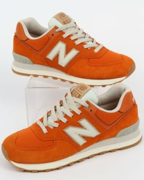 New Balance 574 Trainers Orange/Moonbeam