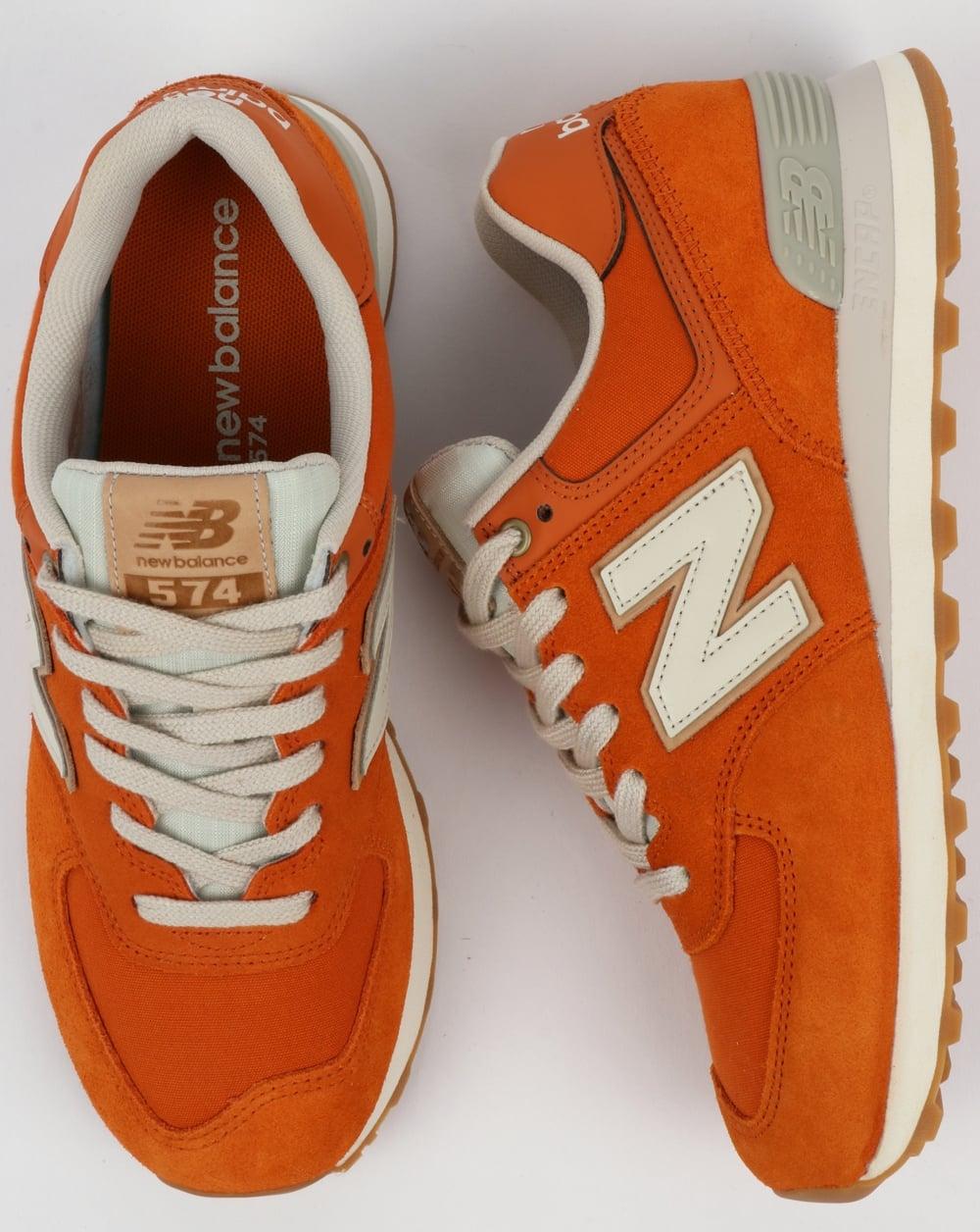 4c2fa3d3f0c New Balance 574 Trainers Orange/Moonbeam