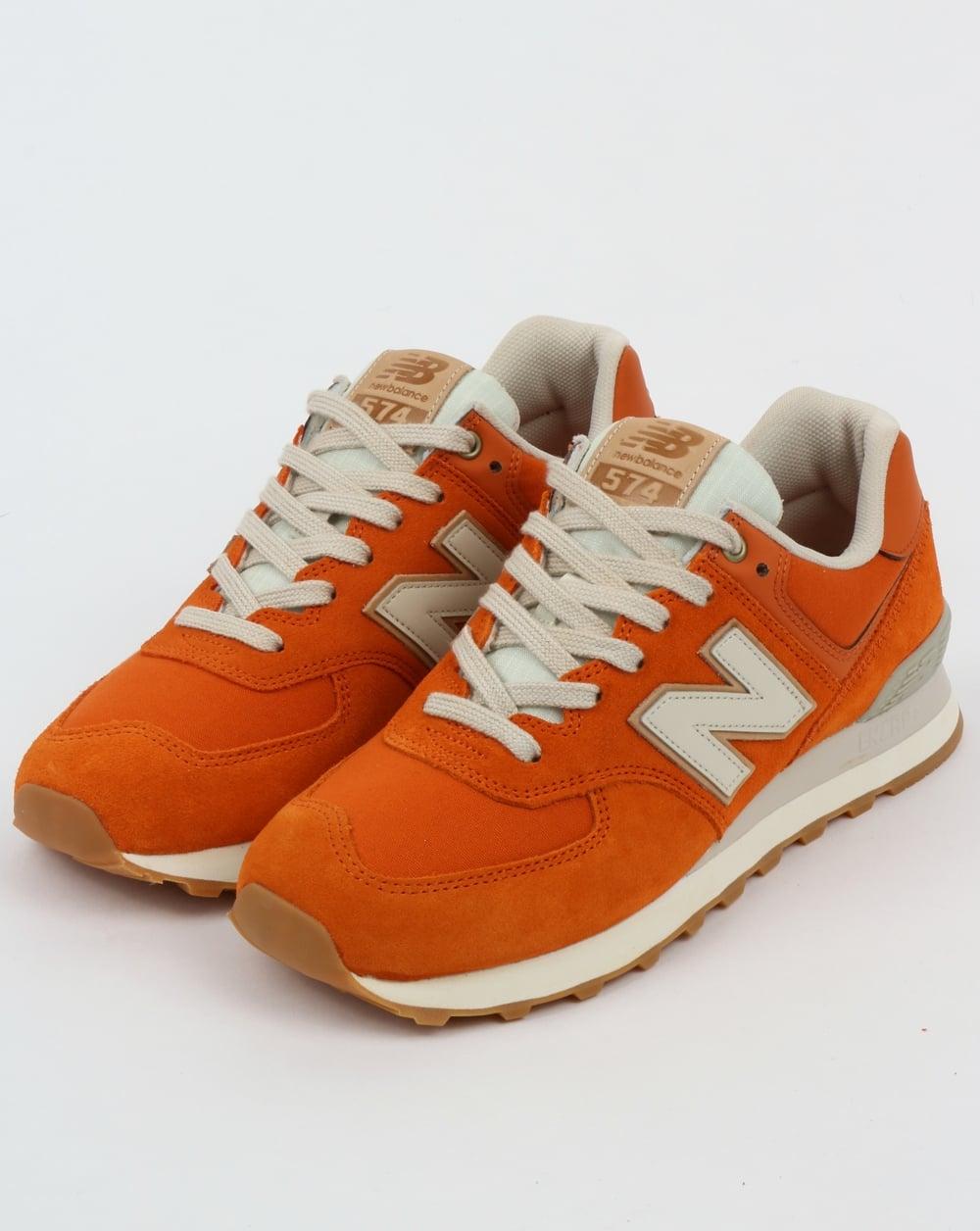 low priced 88c7c 37899 New Balance 574 Trainers Orange/Moonbeam