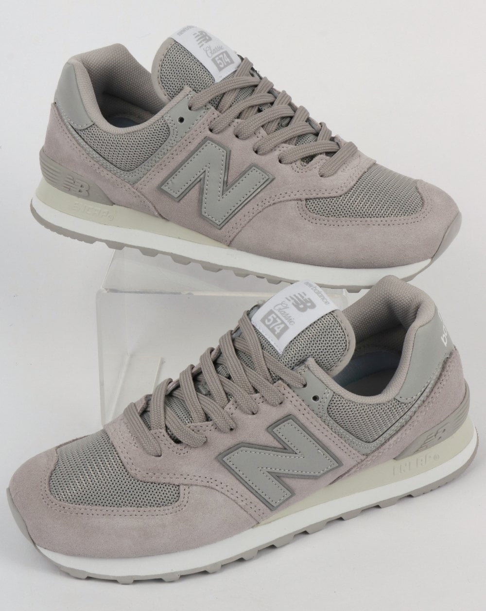 official photos 28995 4b7ab New Balance 574 Trainers Rain Cloud