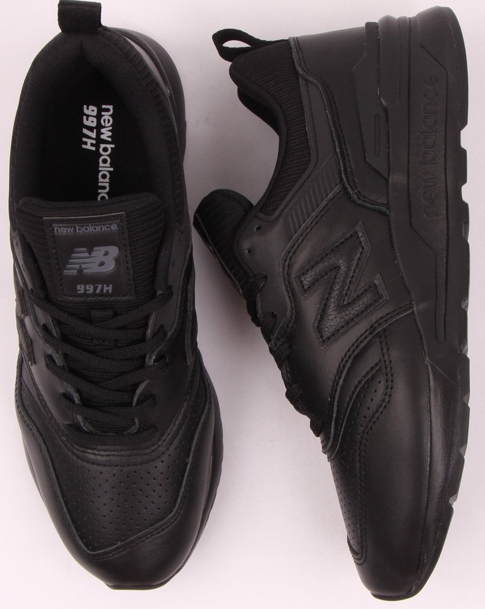New Balance 997 Leather Trainers Black