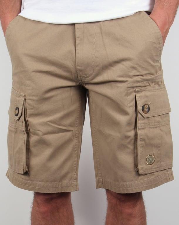 Nicholas Deakins Combat Cargo Shorts Stone