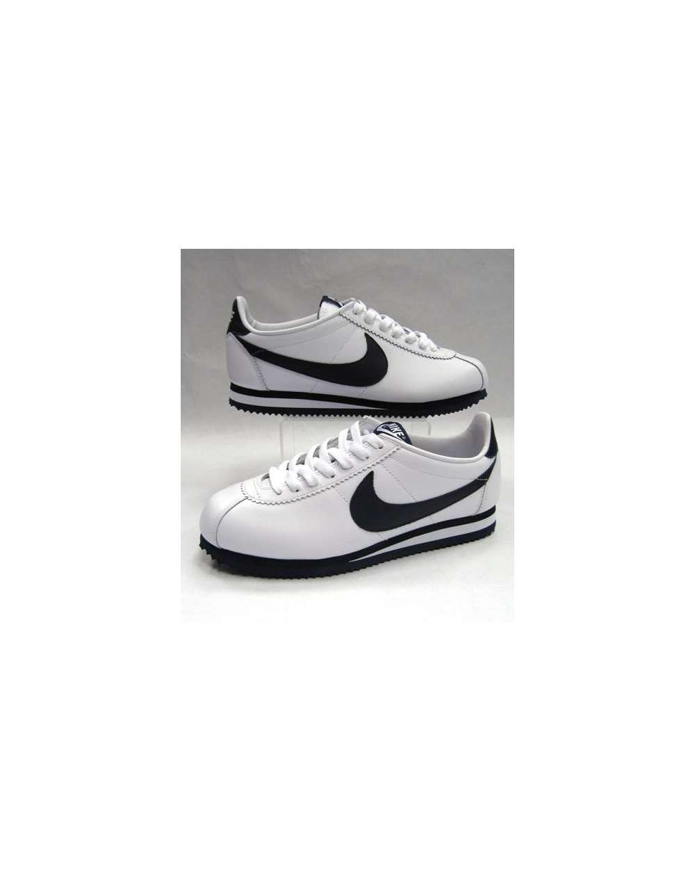 big sale 8a6f5 084db Nike Cortez Trainers Leather White/navy