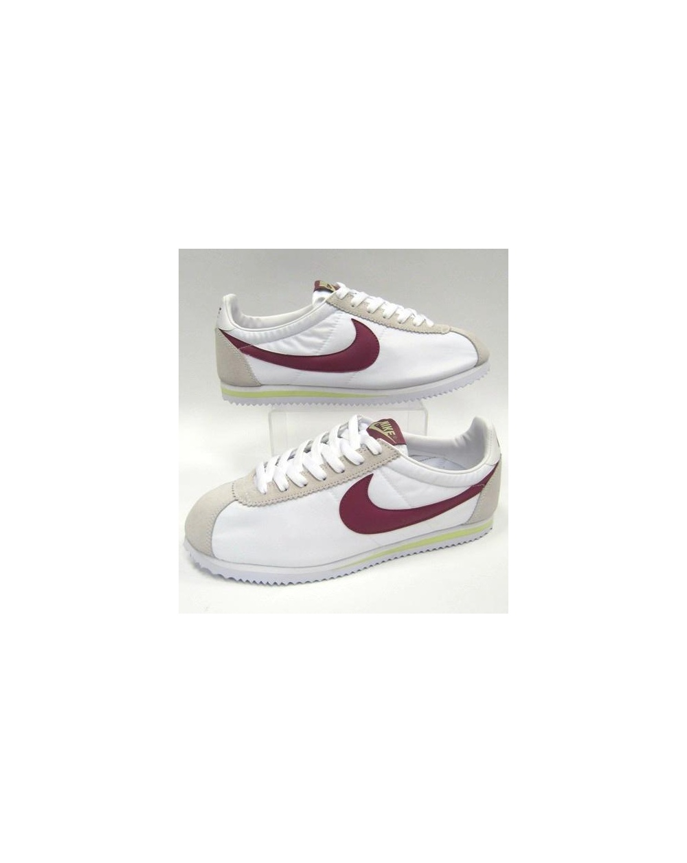 newest a3a0c af4ac Nike Cortez Trainers Nylon White/maroon