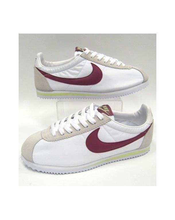 Nike Cortez Trainers Nylon White/maroon