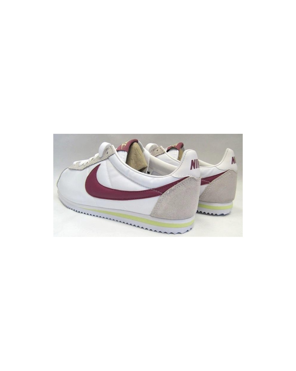 newest 92062 ec548 Nike Cortez Trainers Nylon White/maroon