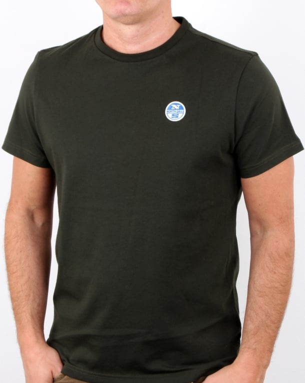 North Sails Basic Patch T Shirt Green