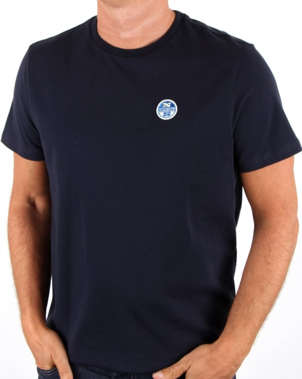 North Sails Basic Patch T Shirt Navy