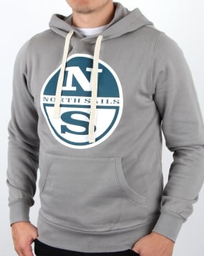 North Sails Lowell Logo Hoody Grey