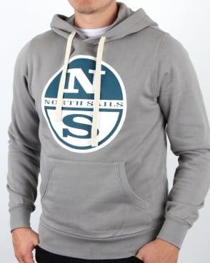 North Sails Lowell Logo Hoody Grey