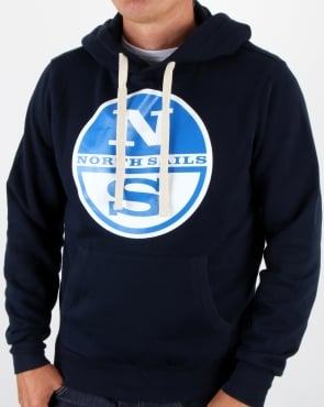 North Sails Lowell Logo Hoody Navy