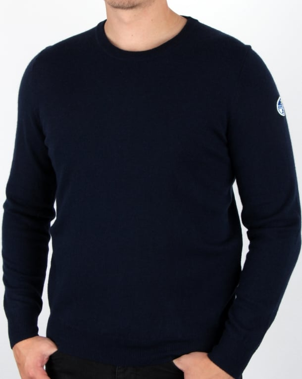 North Sails Lowell Patch Crew Knit Navy