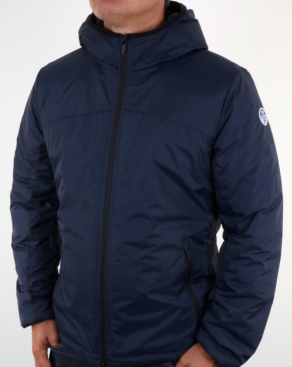 north sails nylon wind runner navy blue jacket coat. Black Bedroom Furniture Sets. Home Design Ideas