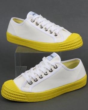 Novesta Star Master Canvas Trainers White/Yellow