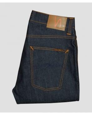 Nudie Jeans Grim Tim Organic Dry Navy