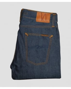 Nudie Jeans Steady Eddie Organic Tonal Dry Navy