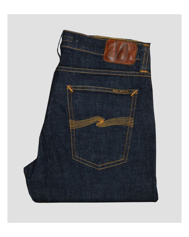 Nudie Jeans Tight Long John Organic Twill Rinsed Navy