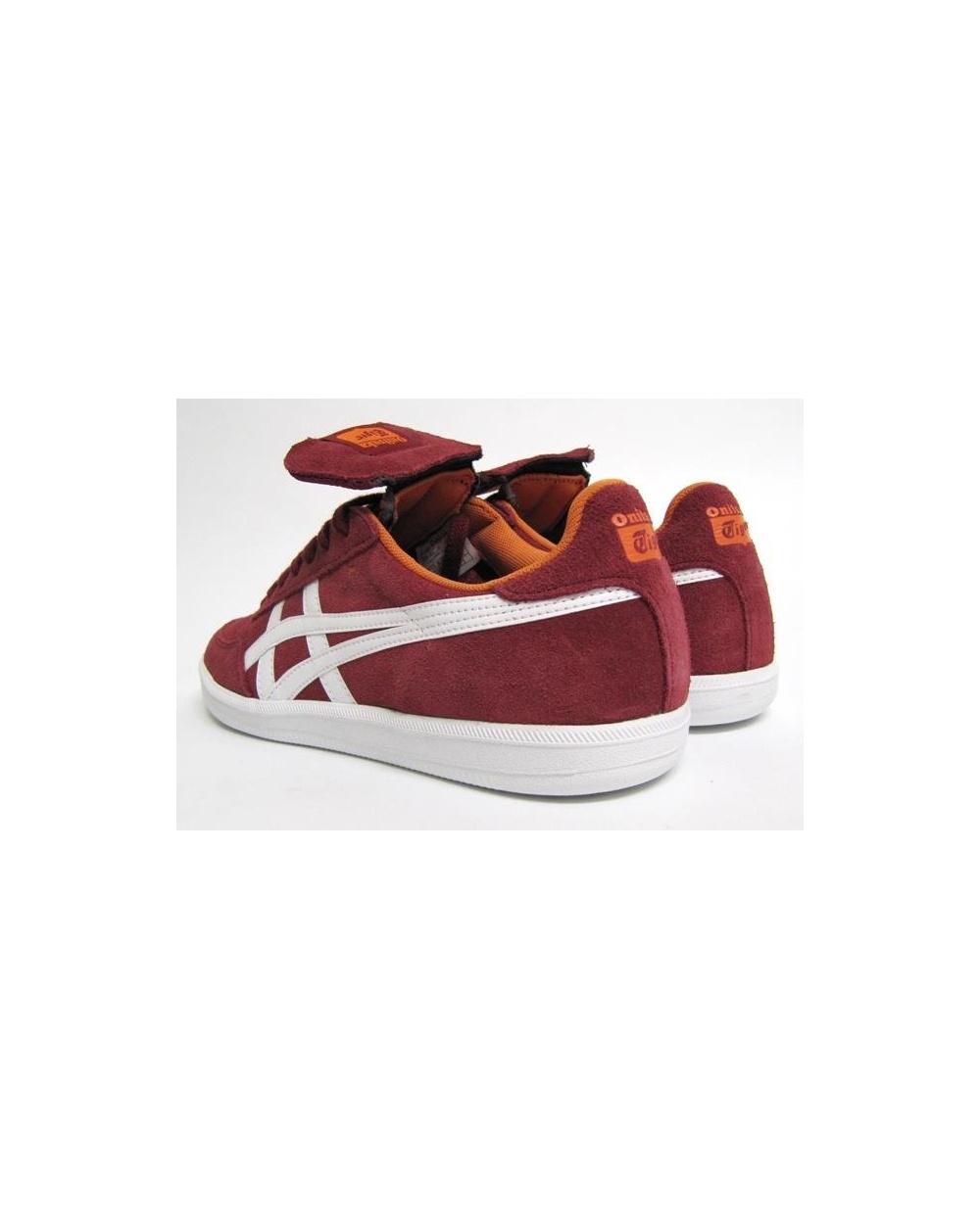 sports shoes b2832 52628 Onitsuka Tiger Hulse Trainers Burgundy/white