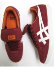 Onitsuka Tiger Hulse Trainers Burgundy/white