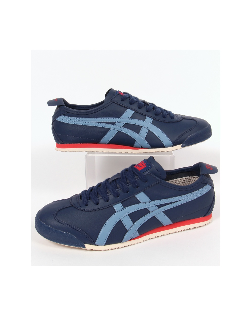 onitsuka tiger mexico 66 trainers poseidon blue vintage blue onitsuka tiger trainers. Black Bedroom Furniture Sets. Home Design Ideas