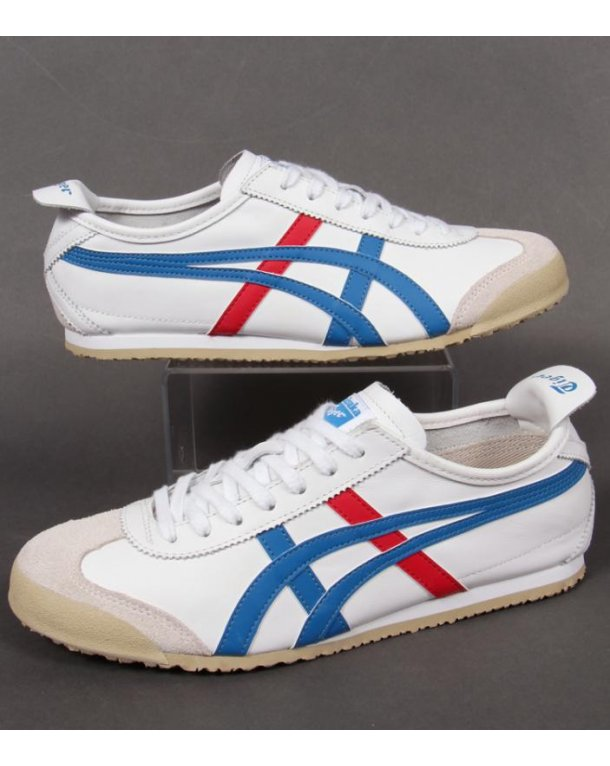 onitsuka tiger white blue red