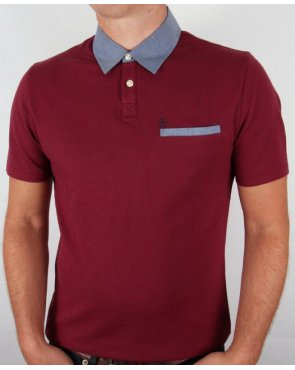 Original Penguin Birdseye Polo Shirt Plum