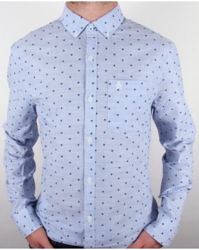 Original Penguin Chambray Woven Shirt Crystal Blue