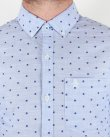 Original Penguin Chambray Woven Shirt Crystal Blue
