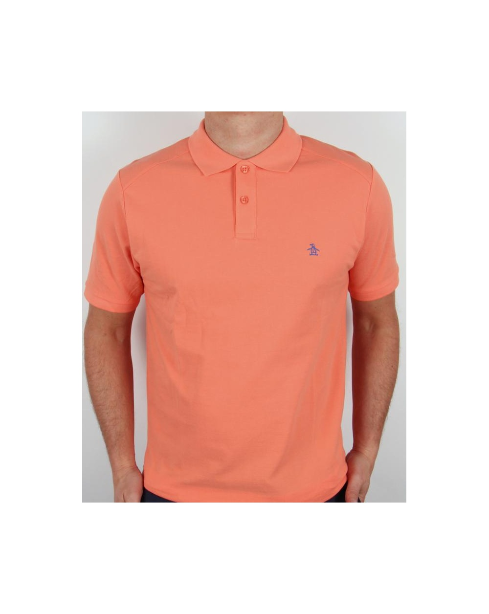 Original Penguin Daddy O Polo Shirt Coral Penguin Slim Fit Daddy Polo