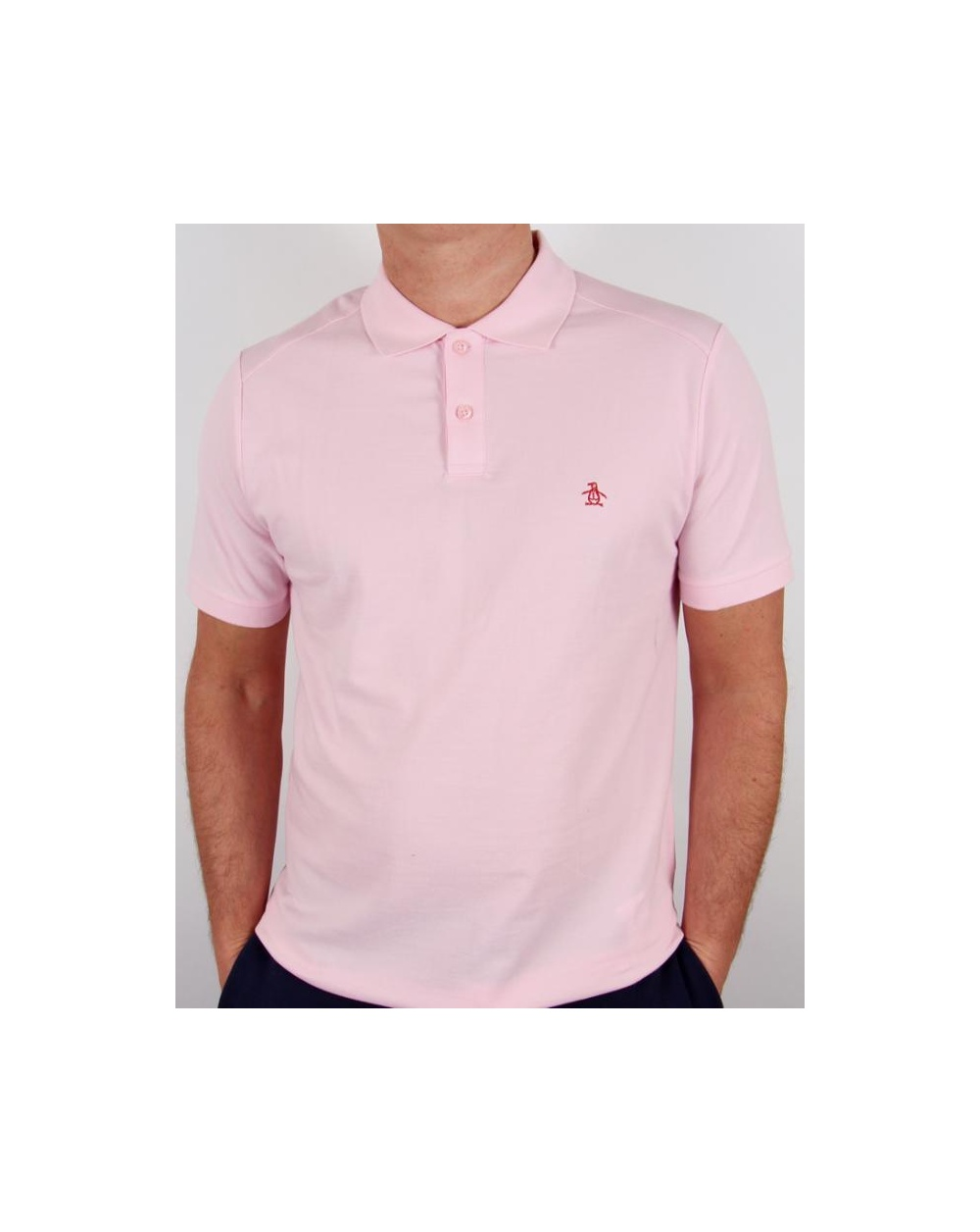 Original Penguin Daddy O Polo Shirt Pink Penguin Slim Fit Daddy Polo