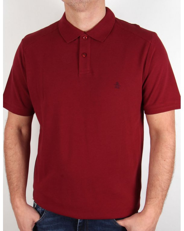 Original Penguin Daddy Polo Shirt Pomegranate