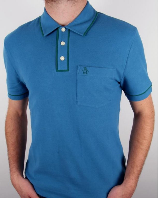 Original Penguin Earl S/s Polo Shirt Vallarta Blue